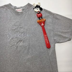 Disneyland Authentic Embossed Gray Shirt, sz XL